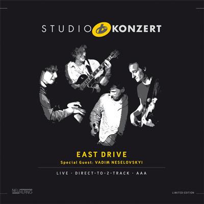 LP-Cover / East Drives Album Studio Konzert live in den Bauer Studios, VÖ 2013 bei Neuklang.