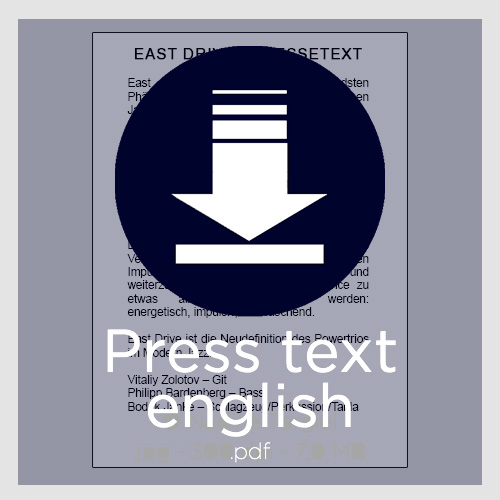 Download press text (english) von East Drive / PDF